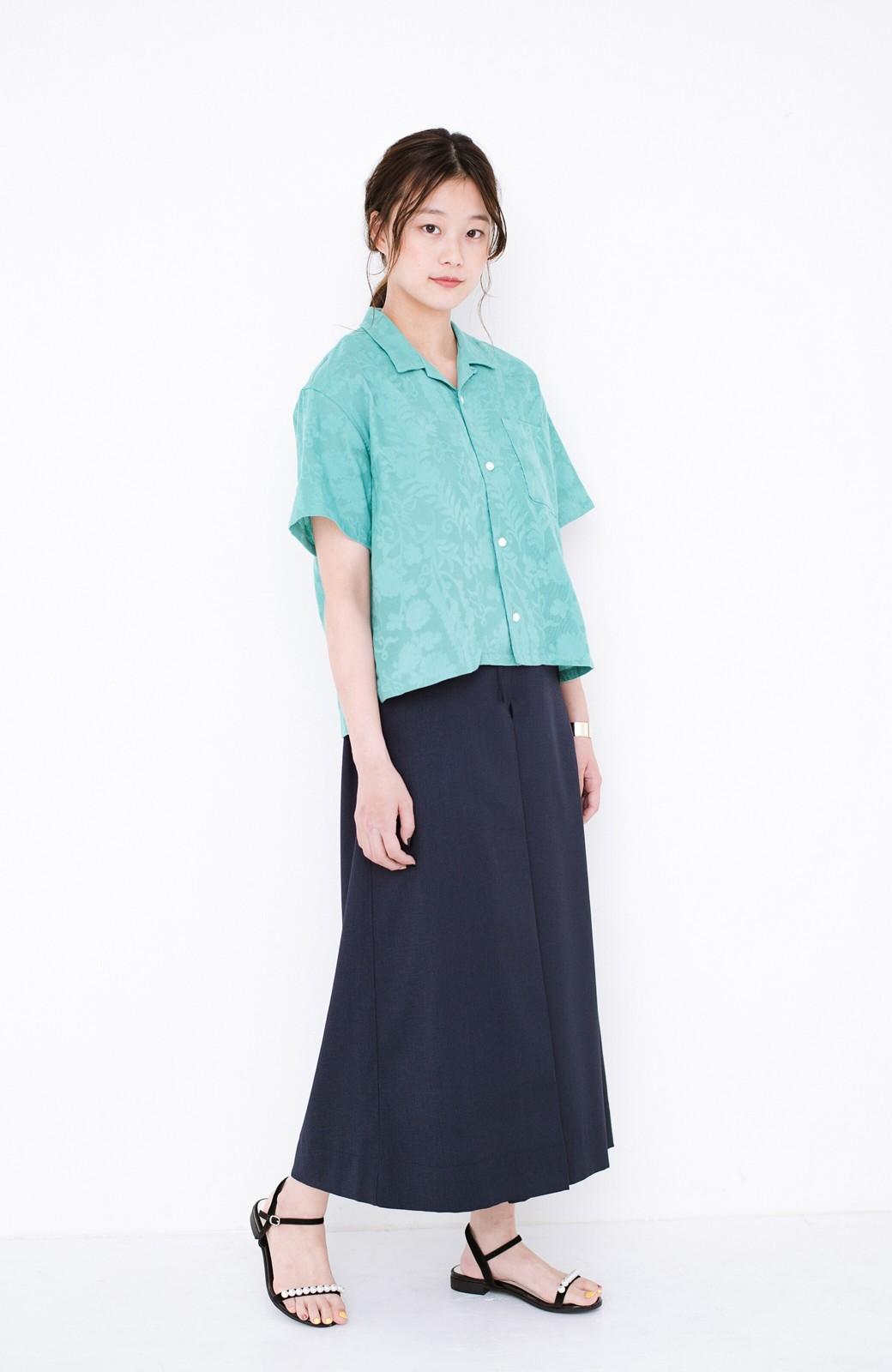 haco! 【今年も再販!】京都の浴衣屋さんと作った浴衣生地のシャツ <グリーン>の商品写真8