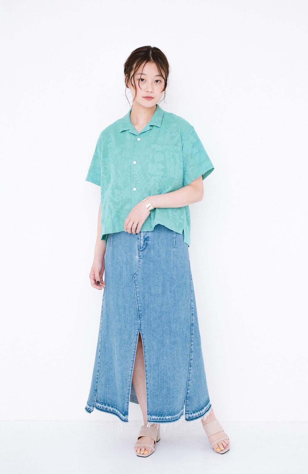 haco! 【今年も再販!】京都の浴衣屋さんと作った浴衣生地のシャツ <グリーン>の商品写真15