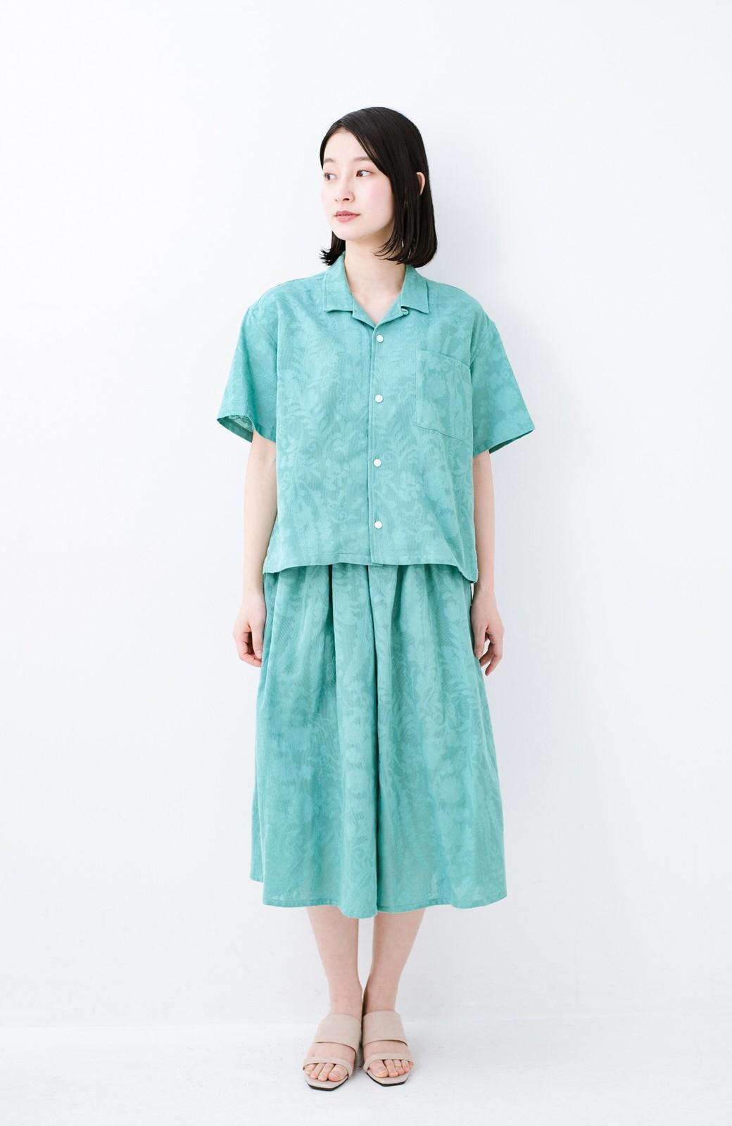 haco! 【今年も再販!】京都の浴衣屋さんと作った浴衣生地のシャツ <グリーン>の商品写真22