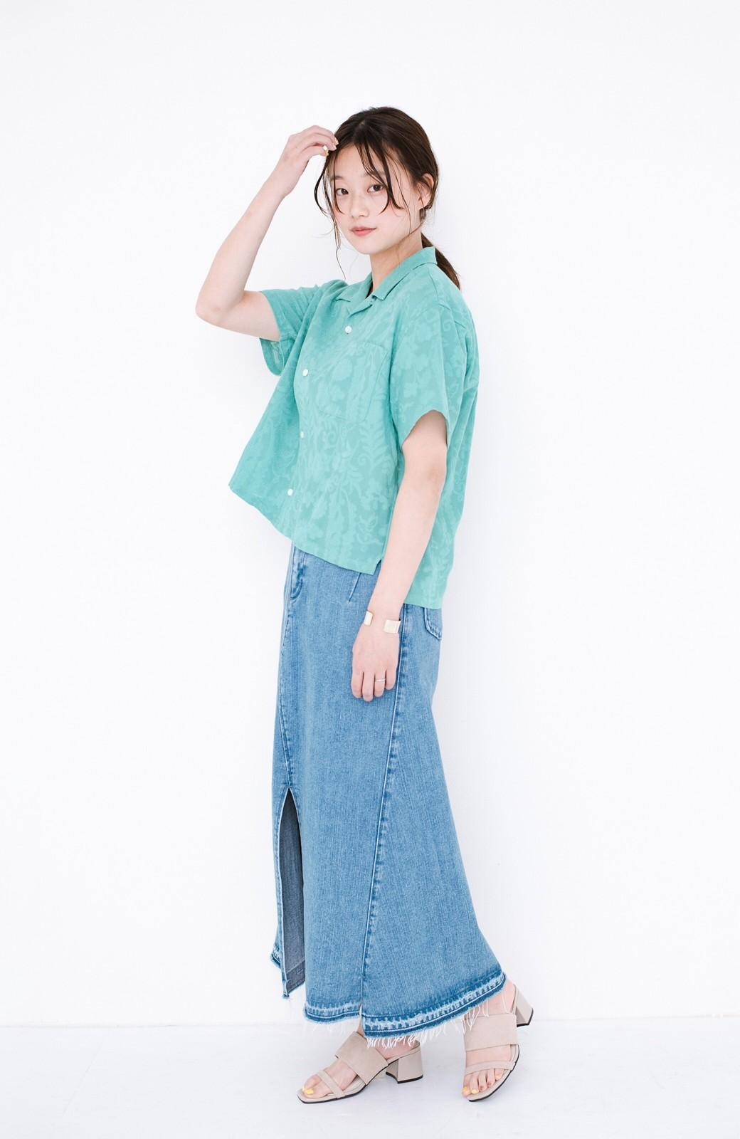 haco! 【今年も再販!】京都の浴衣屋さんと作った浴衣生地のシャツ <グリーン>の商品写真6