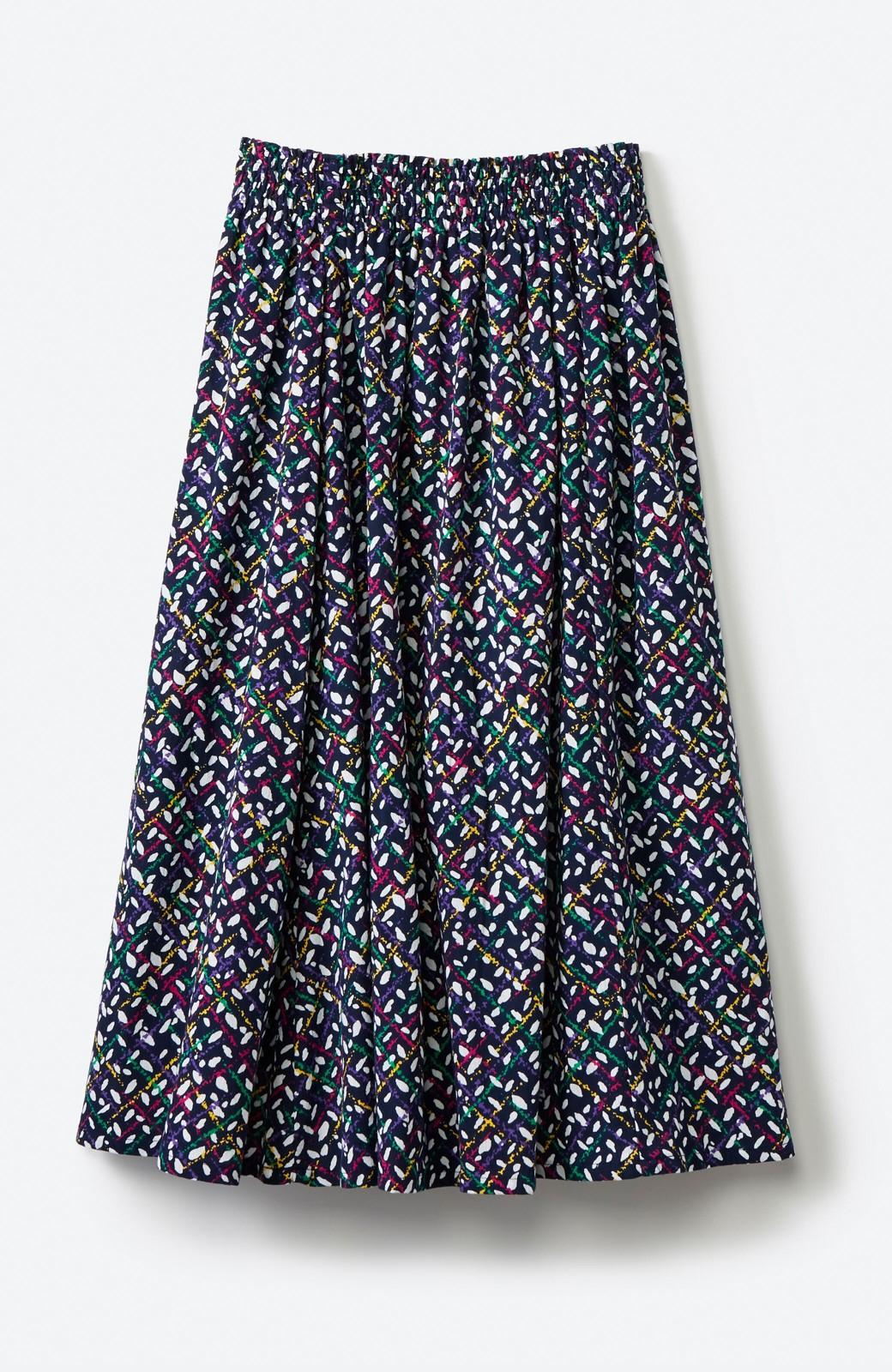 haco! 【コラボ3年目!】京都の浴衣屋さんと作った浴衣生地のスカート <ネイビー>の商品写真14