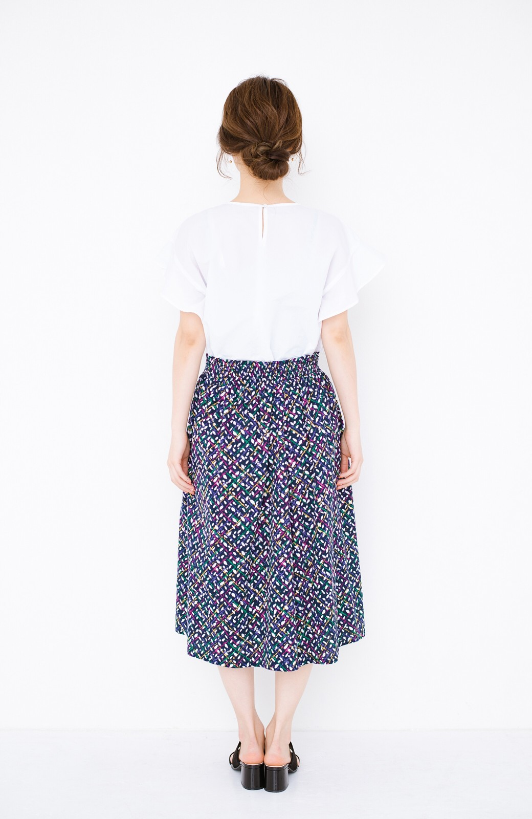 haco! 【コラボ3年目!】京都の浴衣屋さんと作った浴衣生地のスカート <ネイビー>の商品写真18