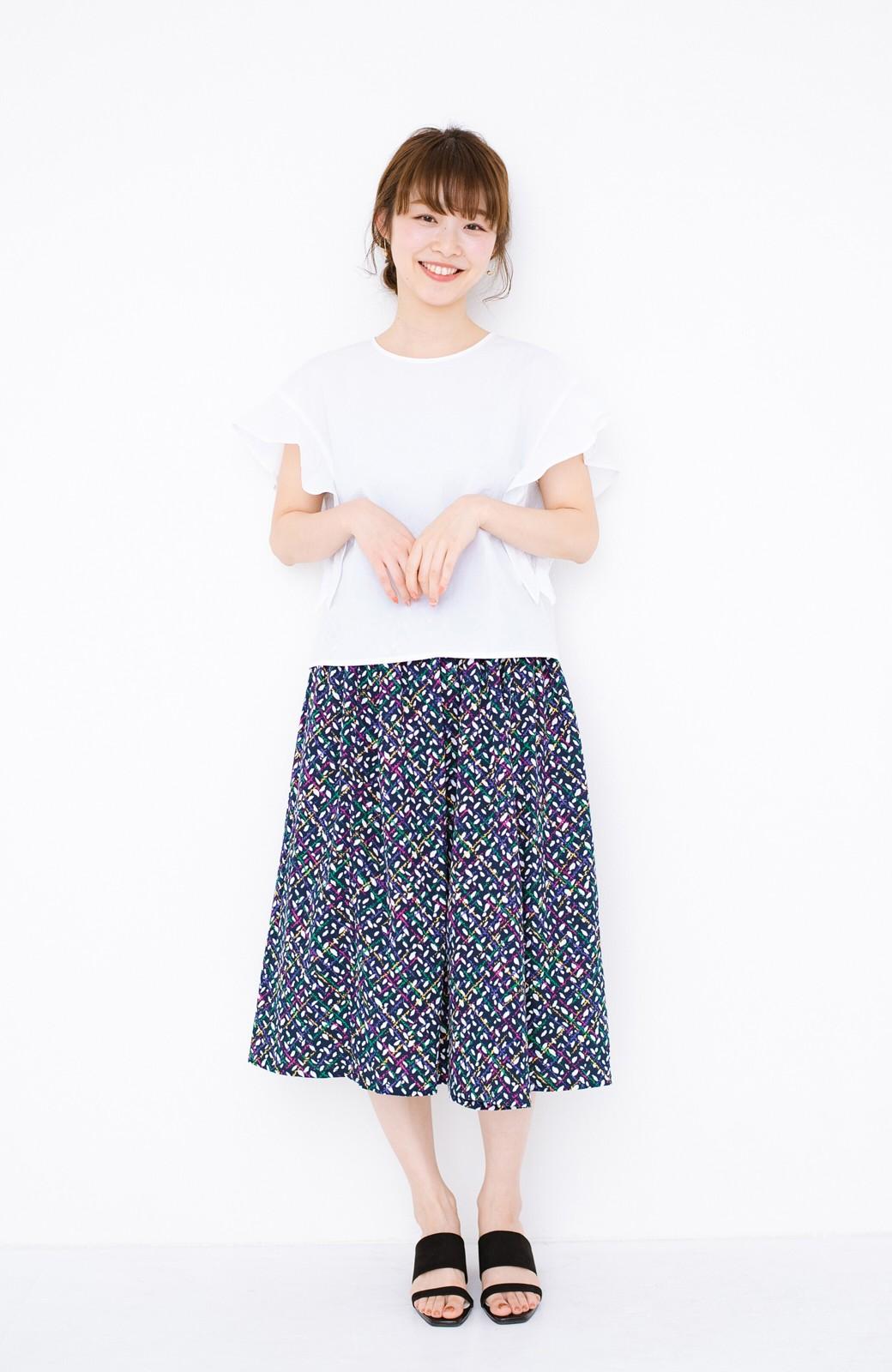 haco! 【コラボ3年目!】京都の浴衣屋さんと作った浴衣生地のスカート <ネイビー>の商品写真16