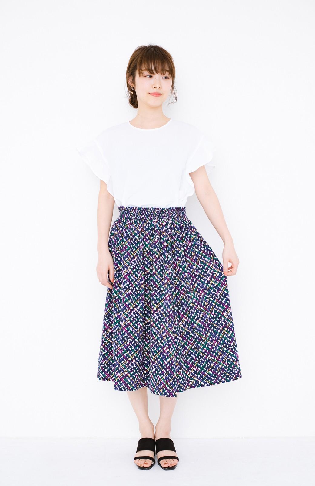 haco! 【コラボ3年目!】京都の浴衣屋さんと作った浴衣生地のスカート <ネイビー>の商品写真10