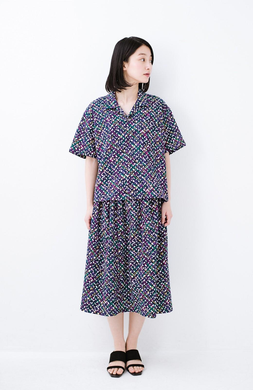 haco! 【コラボ3年目!】京都の浴衣屋さんと作った浴衣生地のスカート <ネイビー>の商品写真20