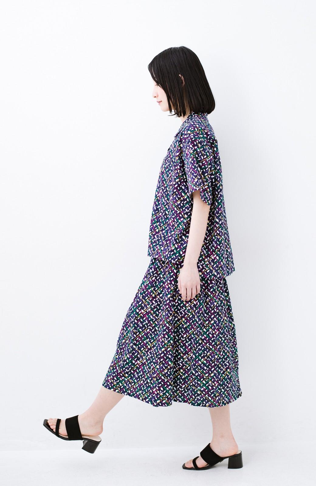 haco! 【コラボ3年目!】京都の浴衣屋さんと作った浴衣生地のスカート <ネイビー>の商品写真12