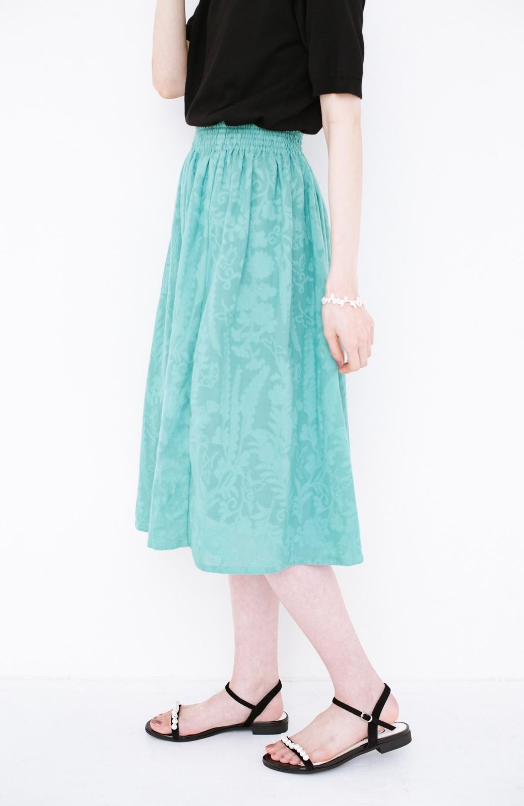 haco! 【コラボ3年目!】京都の浴衣屋さんと作った浴衣生地のスカート <グリーン>の商品写真3