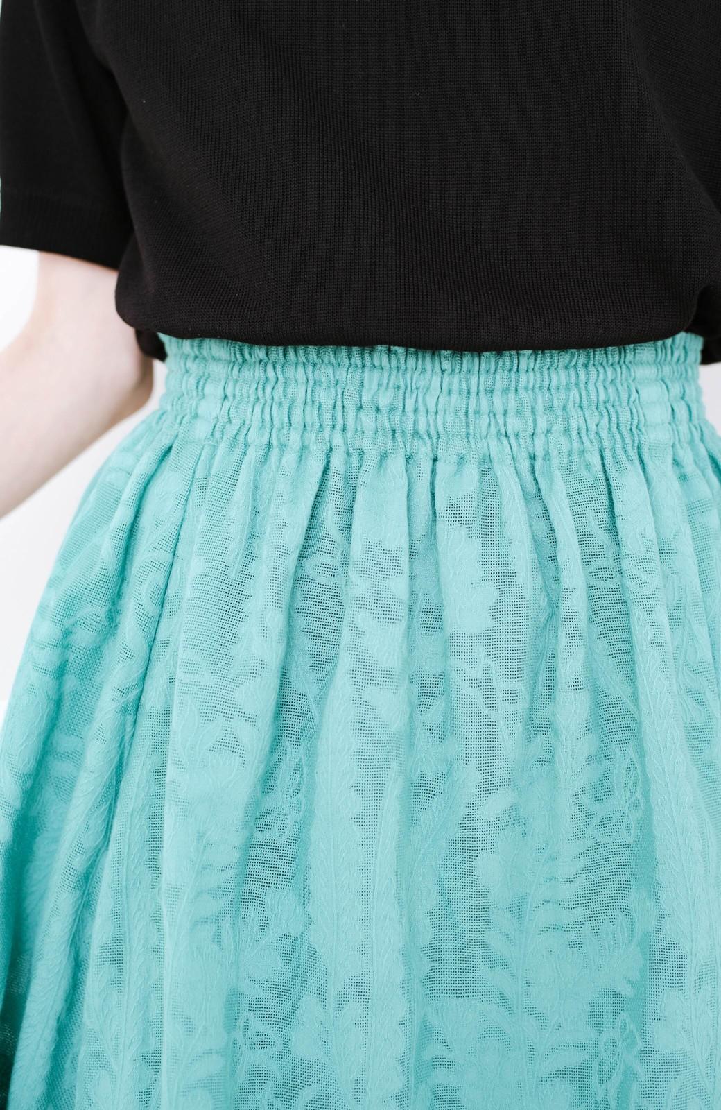 haco! 【コラボ3年目!】京都の浴衣屋さんと作った浴衣生地のスカート <グリーン>の商品写真5