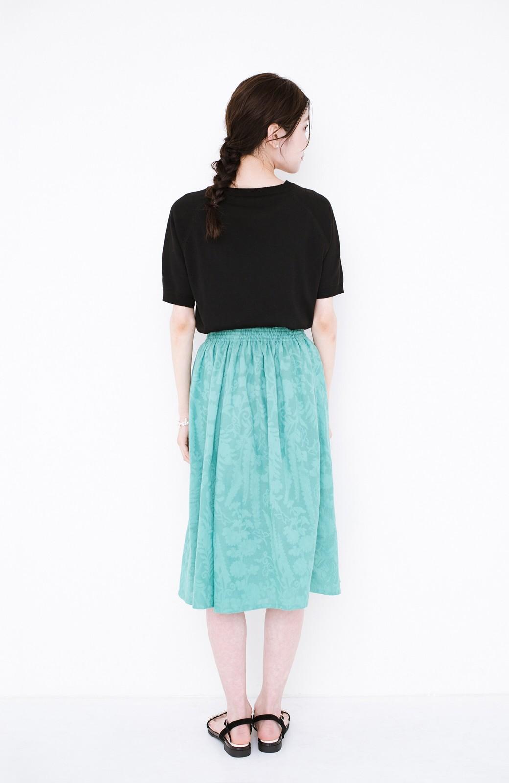 haco! 【コラボ3年目!】京都の浴衣屋さんと作った浴衣生地のスカート <グリーン>の商品写真17