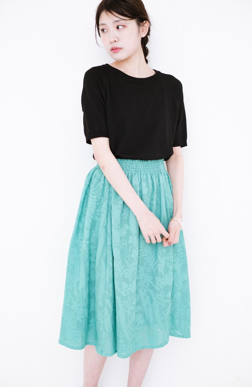 haco! 【コラボ3年目!】京都の浴衣屋さんと作った浴衣生地のスカート <グリーン>の商品写真18