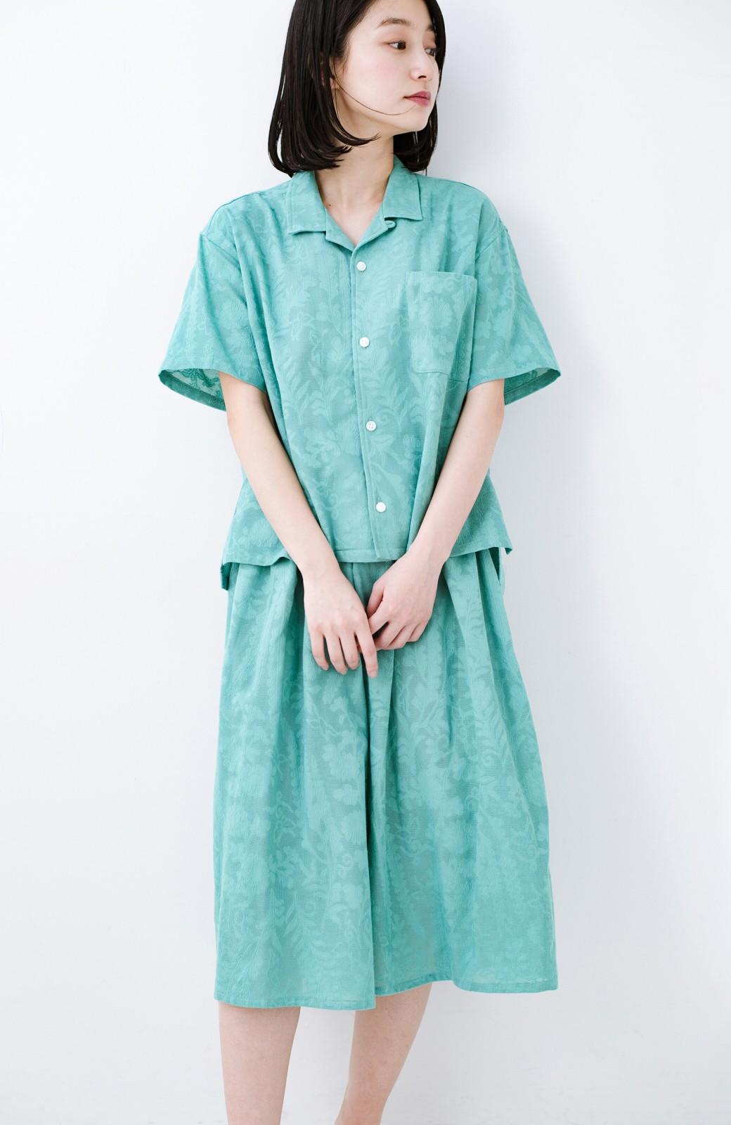 haco! 【コラボ3年目!】京都の浴衣屋さんと作った浴衣生地のスカート <グリーン>の商品写真12