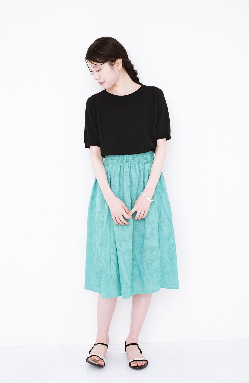 haco! 【コラボ3年目!】京都の浴衣屋さんと作った浴衣生地のスカート <グリーン>の商品写真16