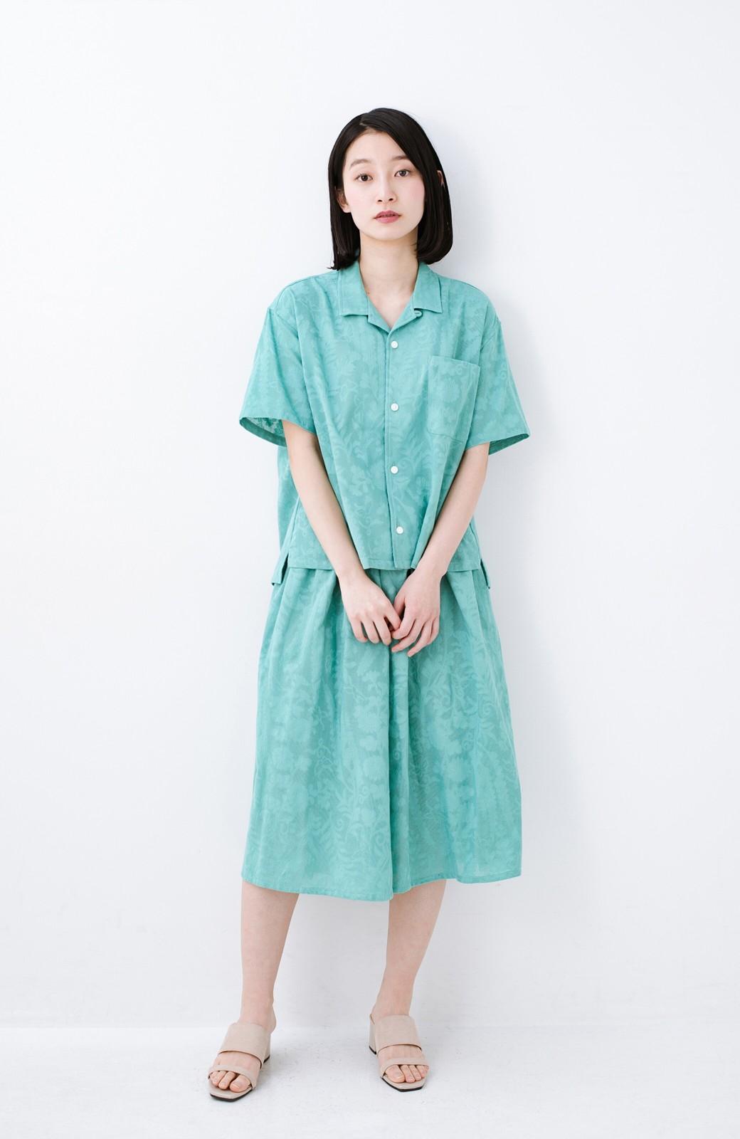 haco! 【コラボ3年目!】京都の浴衣屋さんと作った浴衣生地のスカート <グリーン>の商品写真11