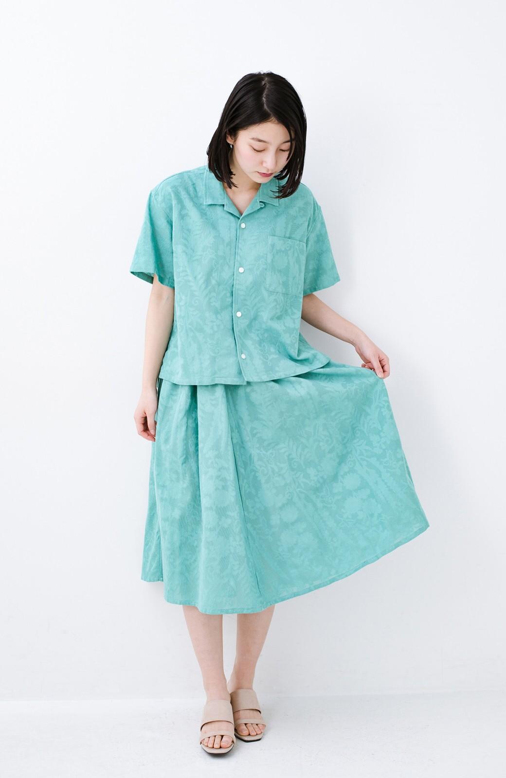 haco! 【コラボ3年目!】京都の浴衣屋さんと作った浴衣生地のスカート <グリーン>の商品写真19