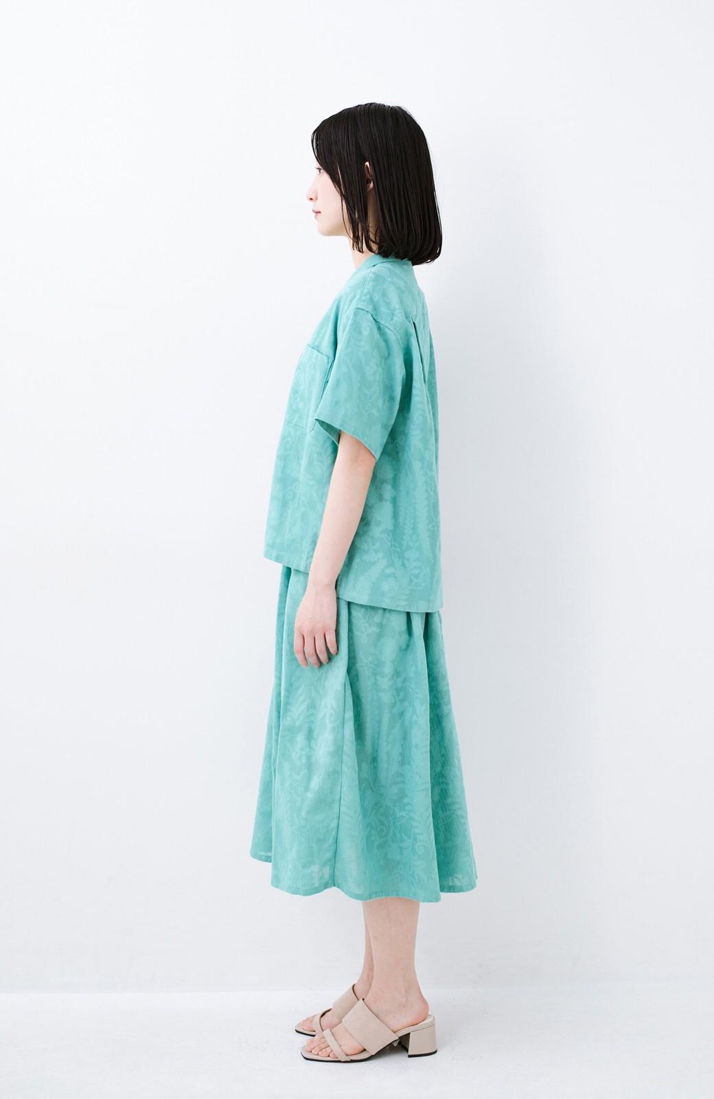 haco! 【コラボ3年目!】京都の浴衣屋さんと作った浴衣生地のスカート <グリーン>の商品写真13