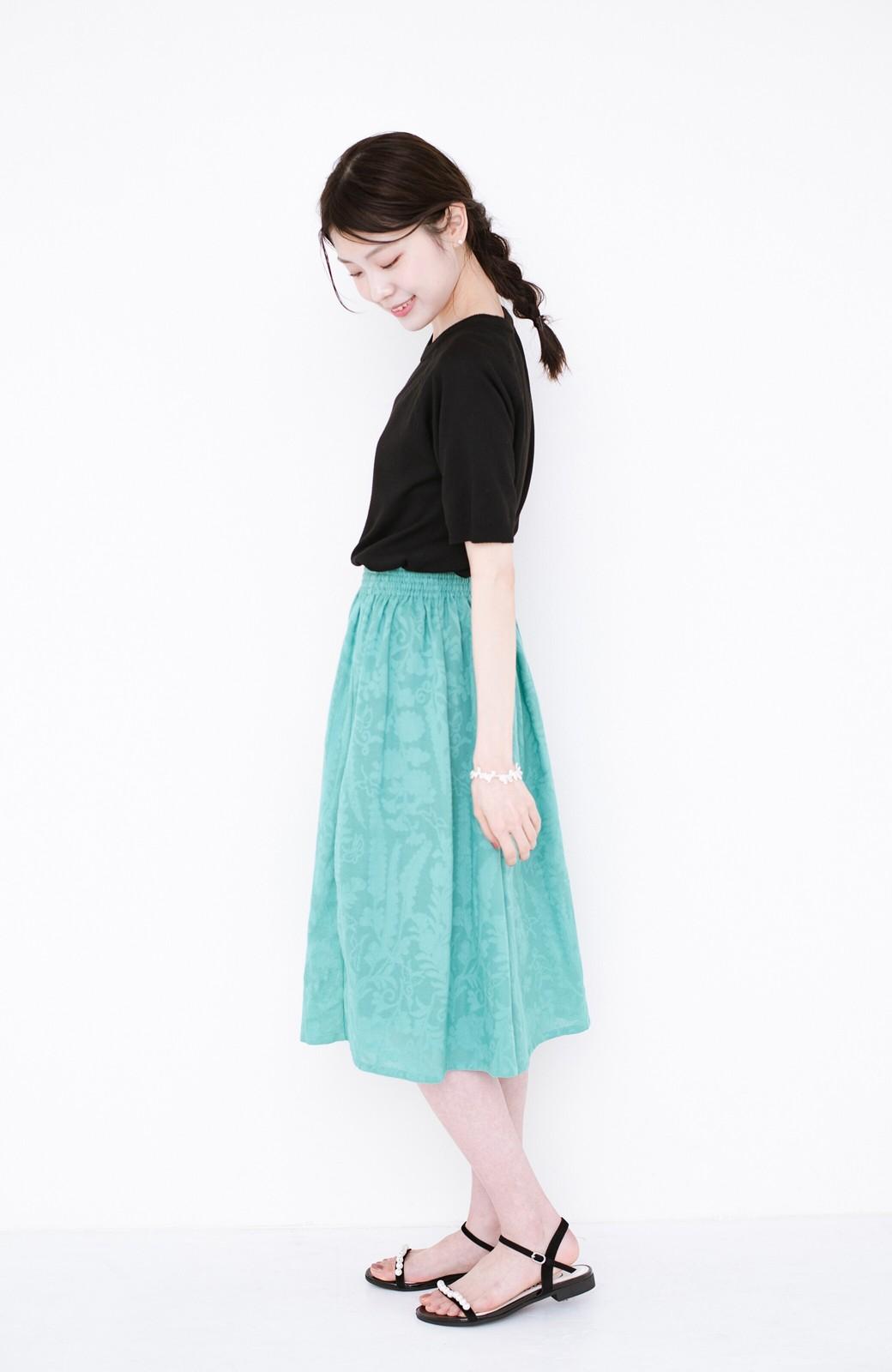 haco! 【コラボ3年目!】京都の浴衣屋さんと作った浴衣生地のスカート <グリーン>の商品写真10