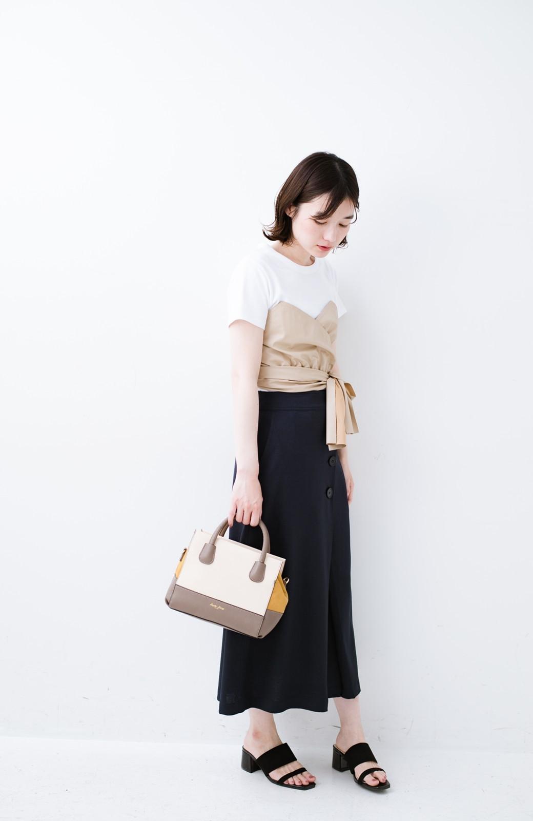 haco! Tシャツを女っぽく着こなせるオトナセットbyMAKORI <ホワイト>の商品写真9