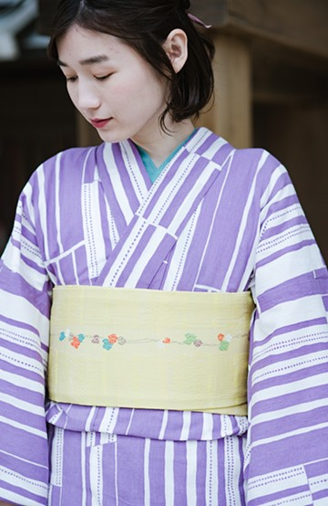 haco! ひでや工房 京都の浴衣屋さんのからみ織り半衿 <グリーン>の商品写真