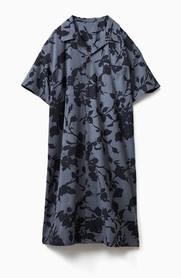 haco! 【今年も再販!】京都の浴衣屋さんと作った浴衣生地のシャツワンピース <グレー系その他>の商品写真