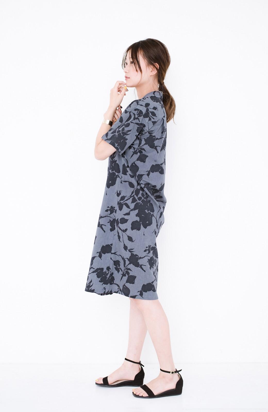 haco! 【コラボ3年目!】京都の浴衣屋さんと作った浴衣生地のシャツワンピース <グレー系その他>の商品写真12