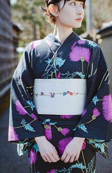 haco! ひでや工房 京都の半巾帯 つた柄 <ホワイト>の商品写真