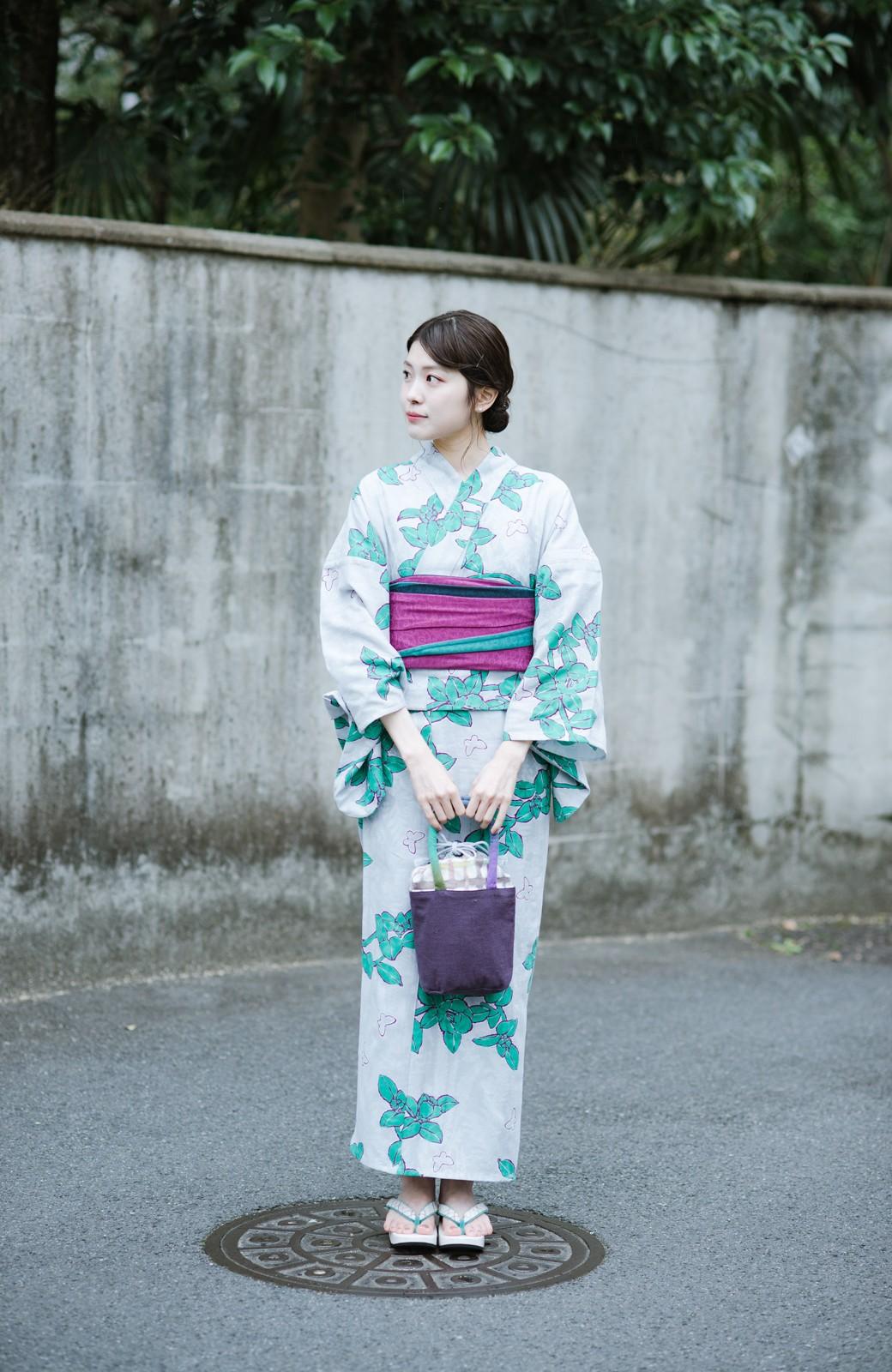 haco! ひでや工房 京都の3色へこ帯 鼓紋様 <パープル系その他>の商品写真11