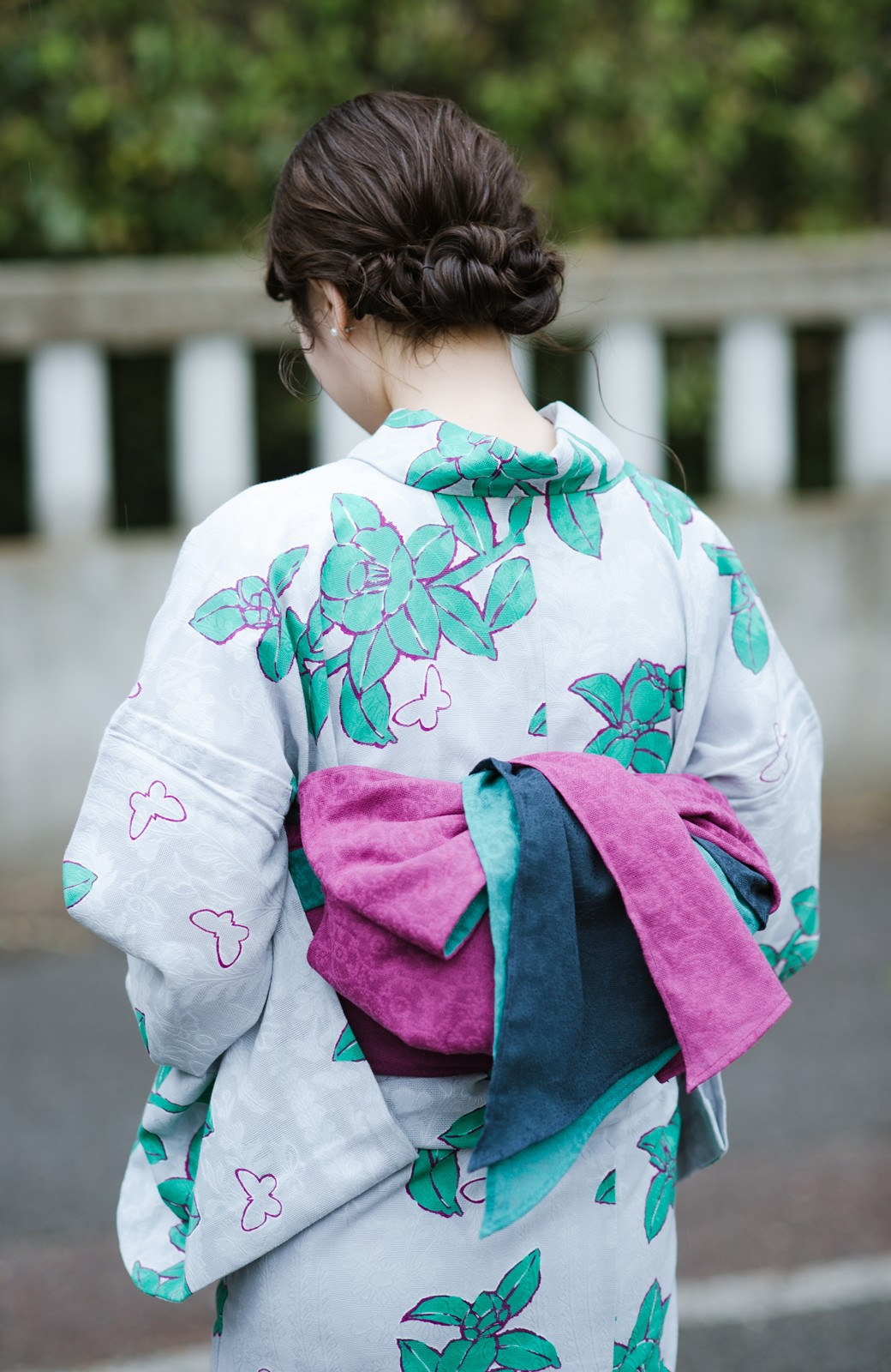 haco! ひでや工房 京都の3色へこ帯 鼓紋様 <パープル系その他>の商品写真1