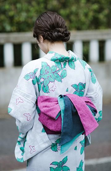 haco! ひでや工房 京都の3色へこ帯 鼓紋様 <パープル系その他>の商品写真