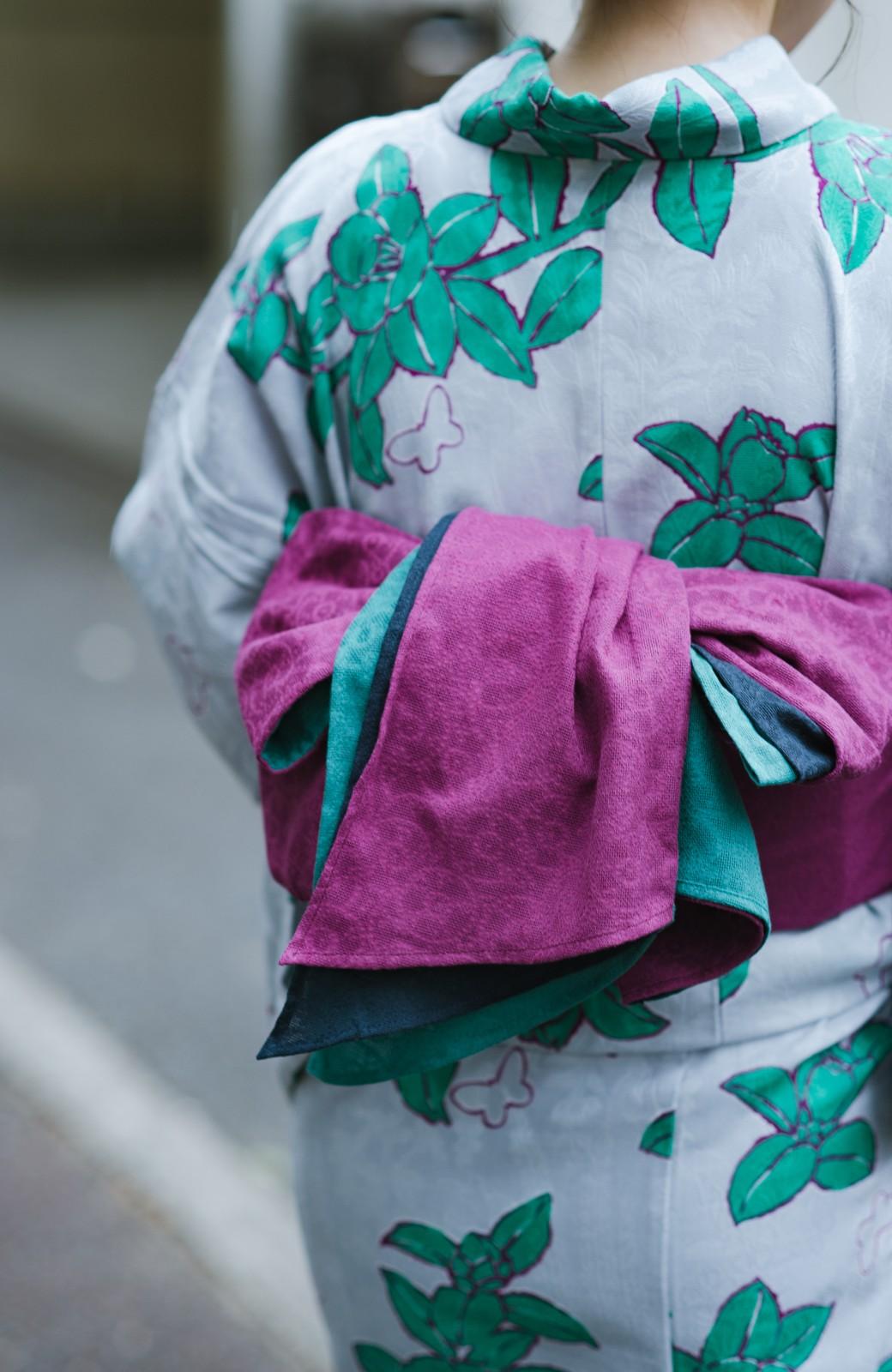 haco! ひでや工房 京都の3色へこ帯 鼓紋様 <パープル系その他>の商品写真3