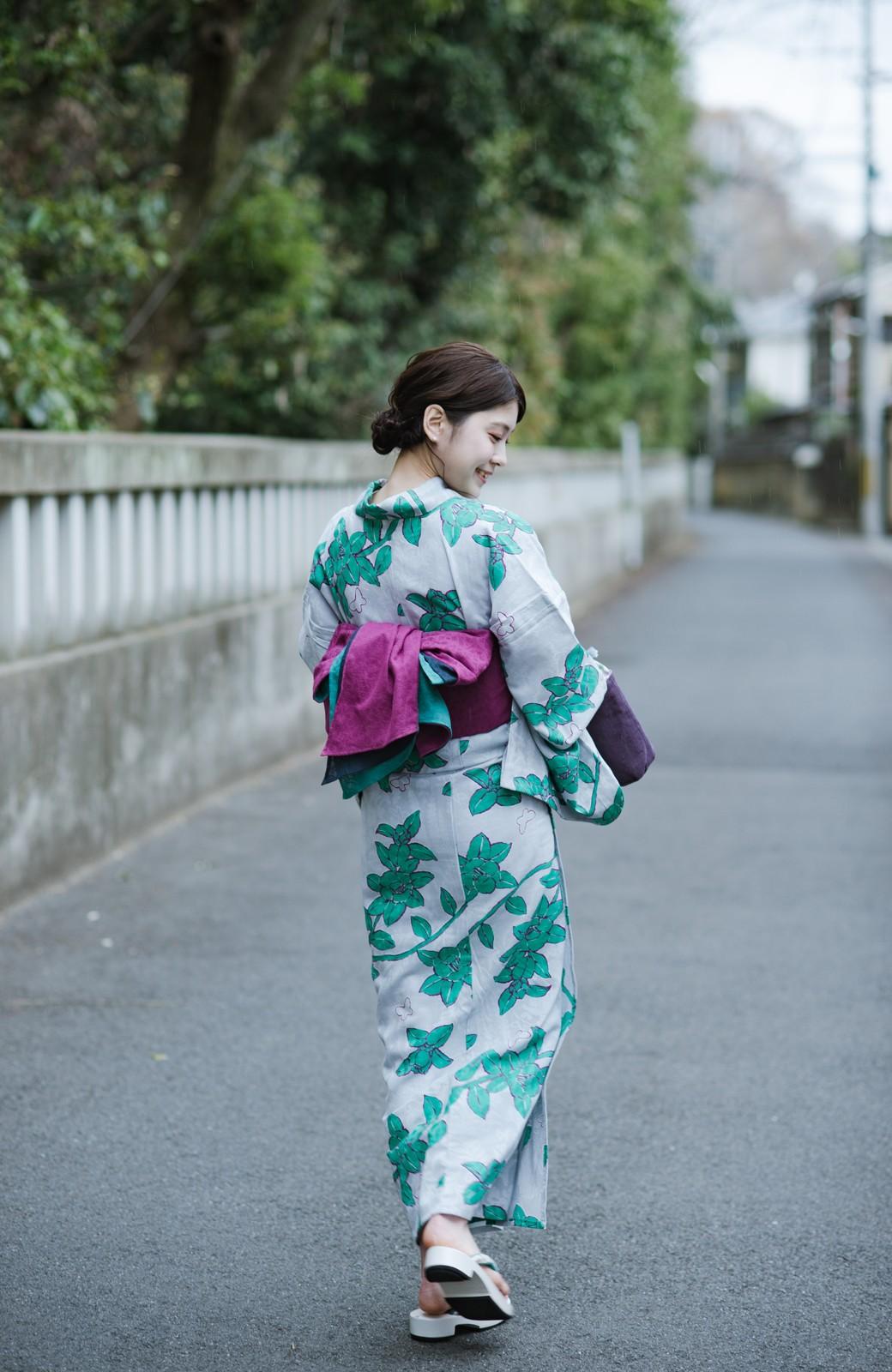 haco! ひでや工房 京都の3色へこ帯 鼓紋様 <パープル系その他>の商品写真7