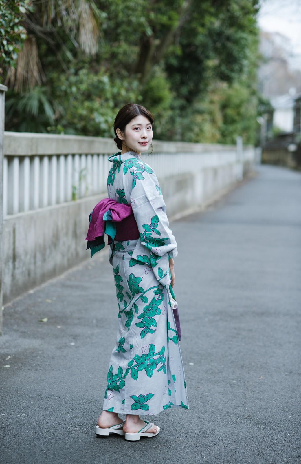 haco! ひでや工房 京都の3色へこ帯 鼓紋様 <パープル系その他>の商品写真4