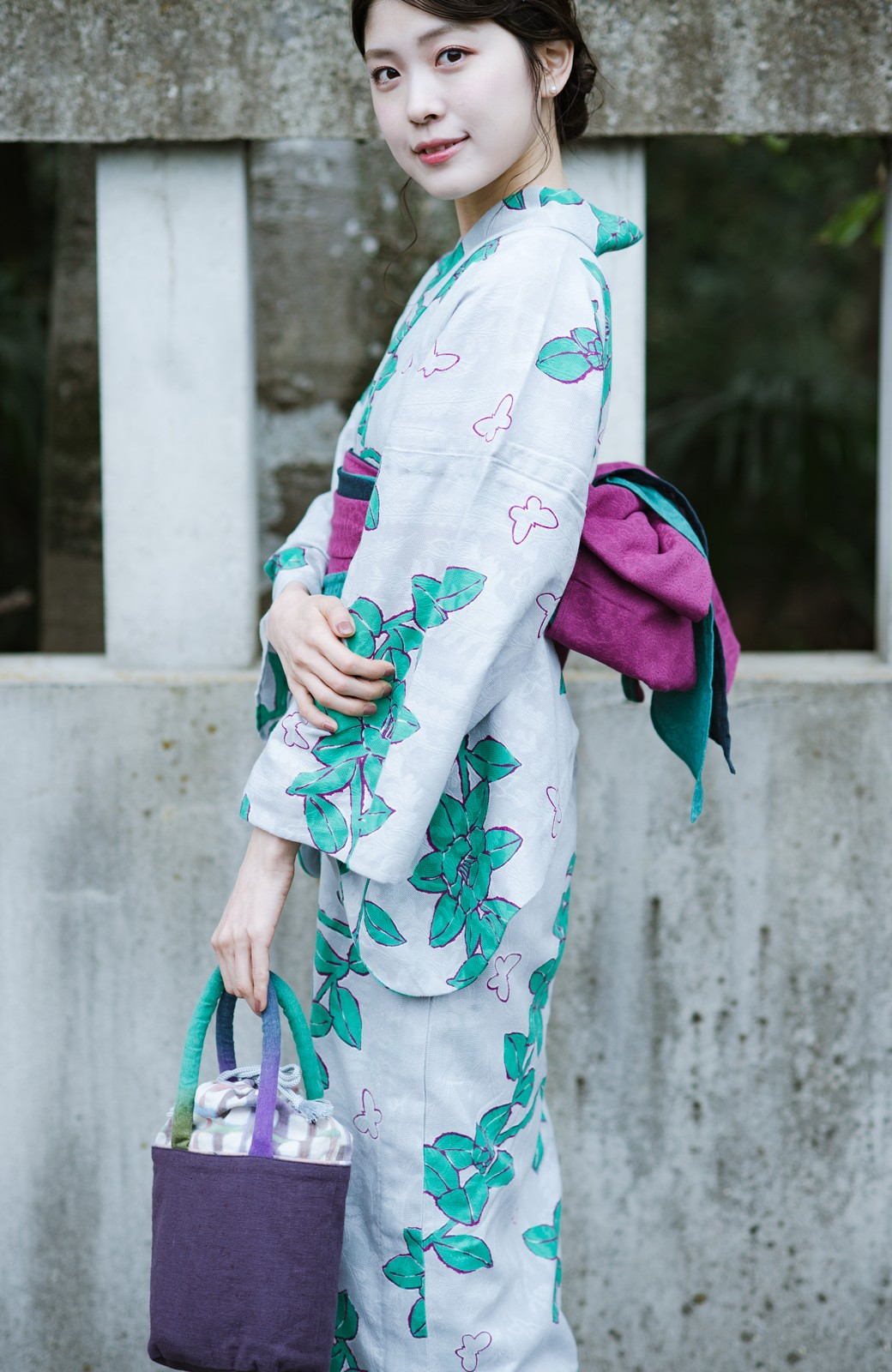 haco! ひでや工房 京都の3色へこ帯 鼓紋様 <パープル系その他>の商品写真8