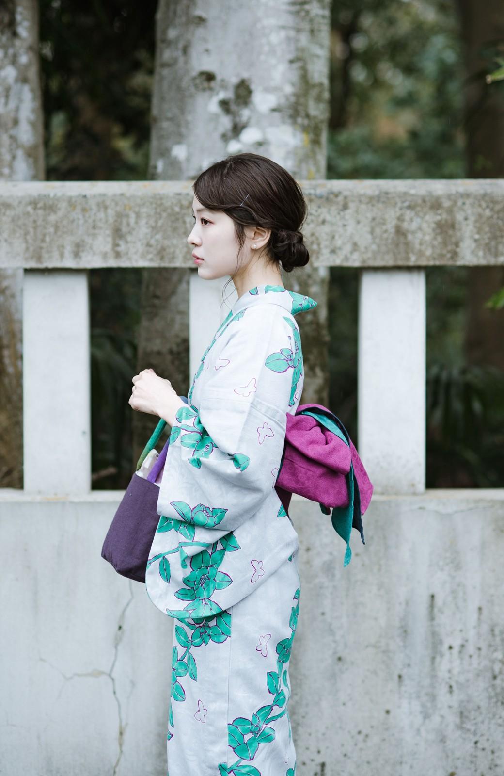 haco! ひでや工房 京都の3色へこ帯 鼓紋様 <パープル系その他>の商品写真9
