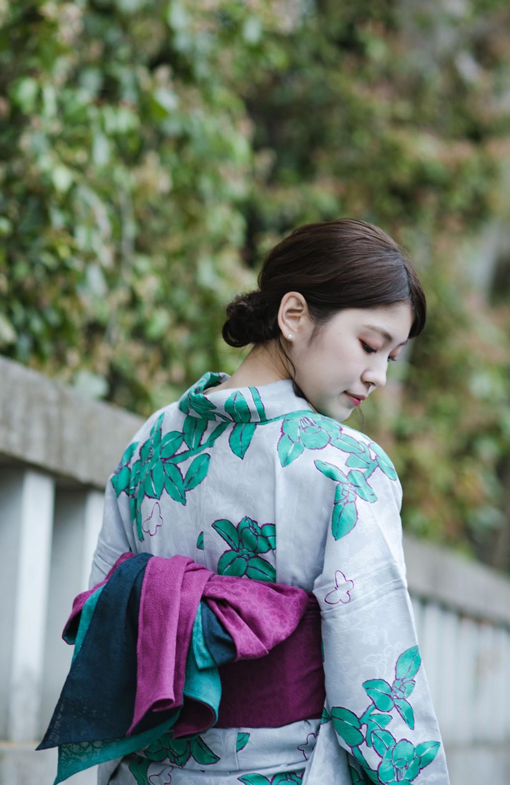 haco! ひでや工房 京都の3色へこ帯 鼓紋様 <パープル系その他>の商品写真10