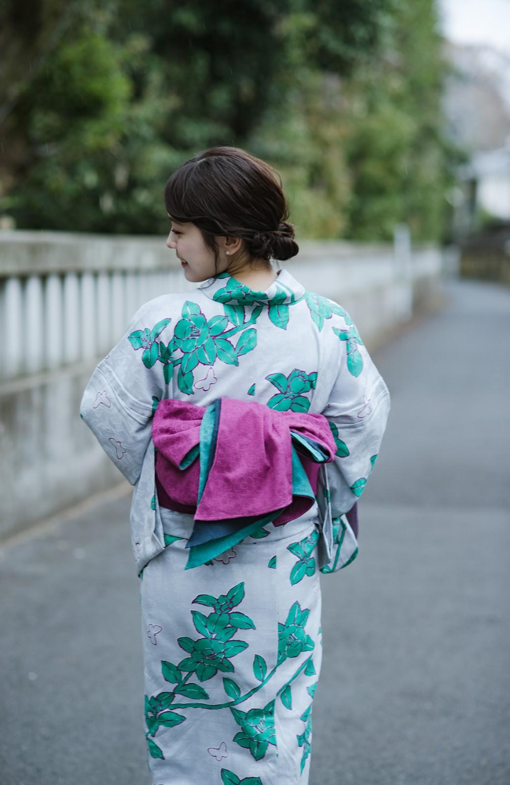 haco! ひでや工房 京都の3色へこ帯 鼓紋様 <パープル系その他>の商品写真5