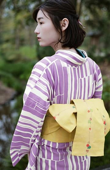 haco! ひでや工房 京都の半巾帯 つた柄 <イエロー>の商品写真
