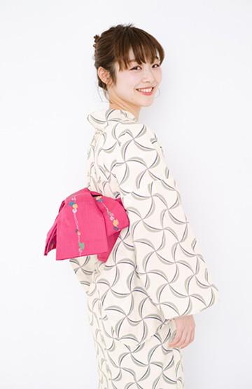 haco! ひでや工房 京都の半巾帯 つた柄 <ピンク>の商品写真
