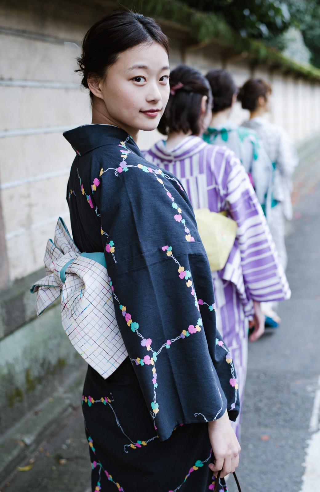 haco! ひでや工房 京都の綿ちりめん浴衣 <ブラック系その他>の商品写真13