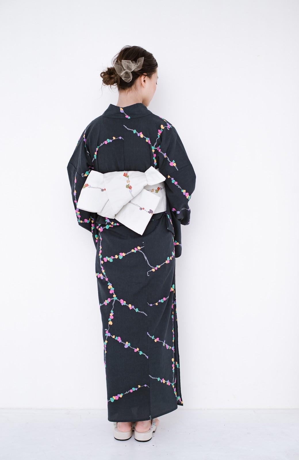 haco! ひでや工房 京都の綿ちりめん浴衣 <ブラック系その他>の商品写真22