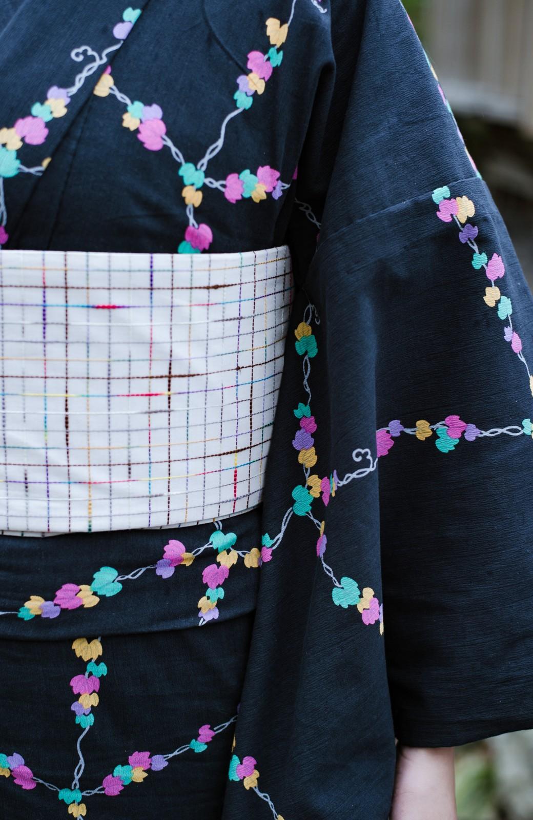 haco! ひでや工房 京都の綿ちりめん浴衣 <ブラック系その他>の商品写真9