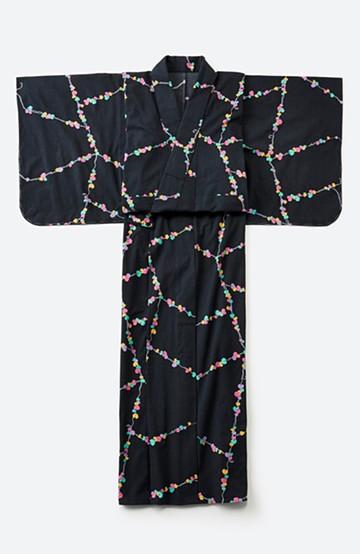 haco! ひでや工房 京都の綿ちりめん浴衣 <ブラック系その他>の商品写真