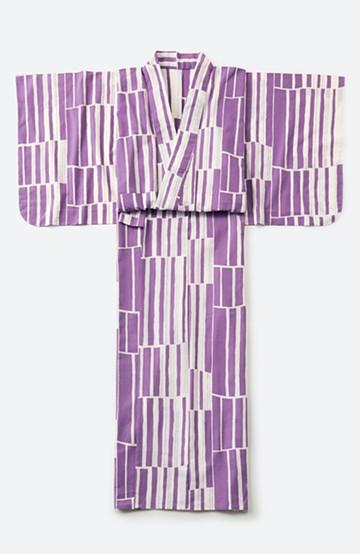 haco! ひでや工房 京都の綿ちりめん浴衣 <パープル>の商品写真