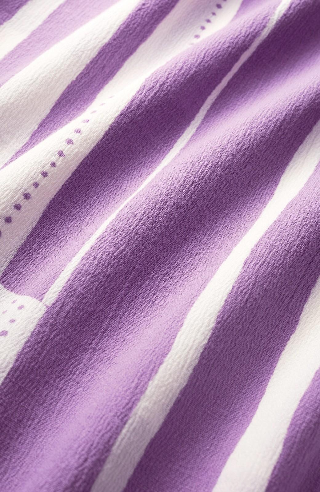 haco! ひでや工房 京都の綿ちりめん浴衣 <パープル>の商品写真4