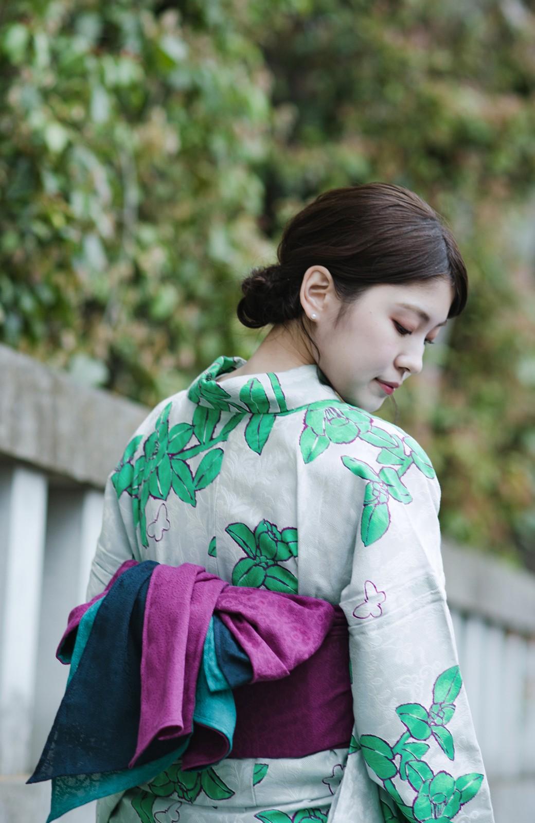 haco! ひでや工房 京都のからみ織ジャカード浴衣  <グレー系その他>の商品写真16