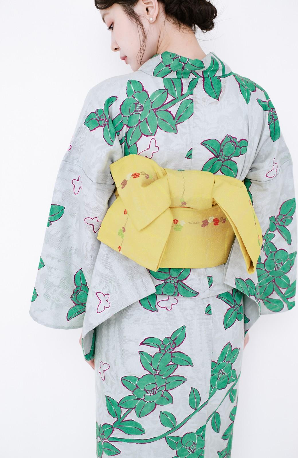 haco! ひでや工房 京都のからみ織ジャカード浴衣  <グレー系その他>の商品写真17