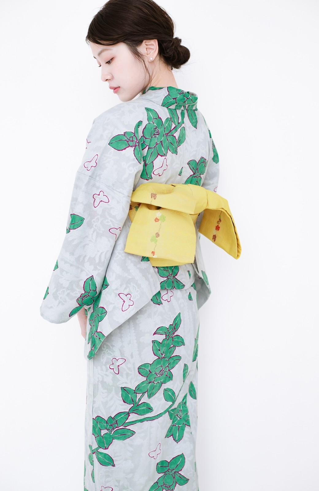 haco! ひでや工房 京都のからみ織ジャカード浴衣  <グレー系その他>の商品写真18