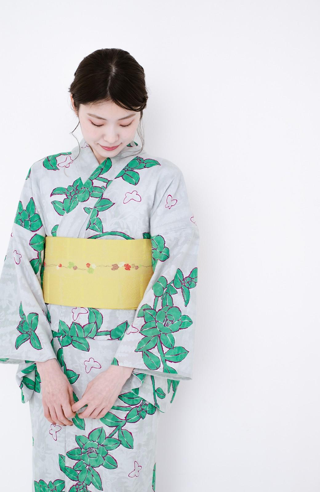 haco! ひでや工房 京都のからみ織ジャカード浴衣  <グレー系その他>の商品写真19