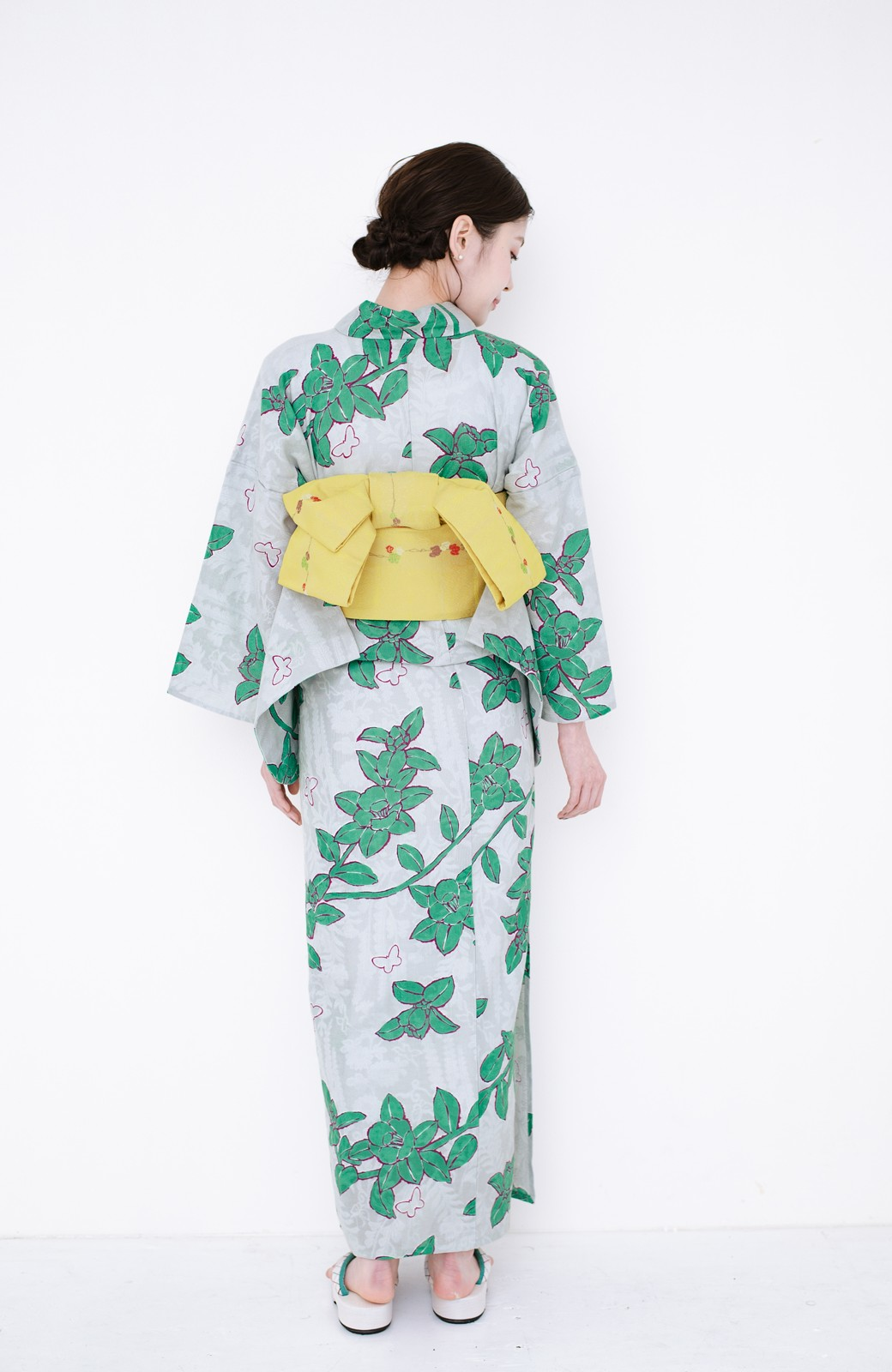 haco! ひでや工房 京都のからみ織ジャカード浴衣  <グレー系その他>の商品写真21