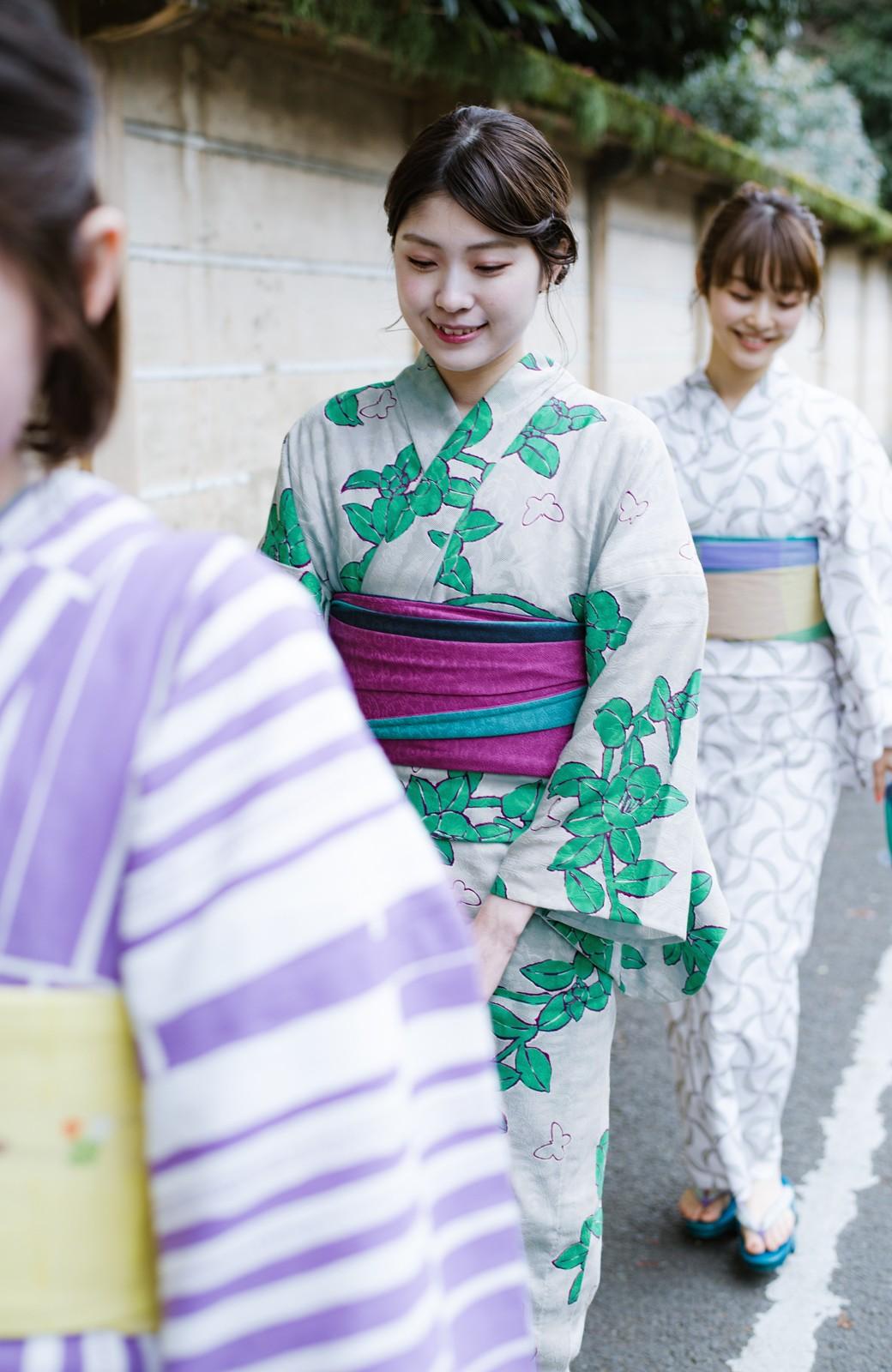 haco! ひでや工房 京都のからみ織ジャカード浴衣  <グレー系その他>の商品写真6