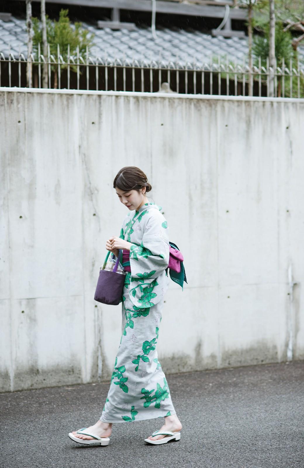 haco! ひでや工房 京都のからみ織ジャカード浴衣  <グレー系その他>の商品写真22